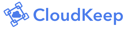 CloudKeep logo in blue